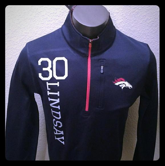 hot sale online 287e1 4bf8d Philip Lindsay Denver Broncos Jersey Jacket NWT Boutique